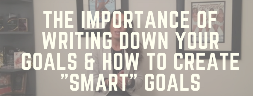 Part II The Importance of Writing Down Your Goals & How to Create SMART Goals