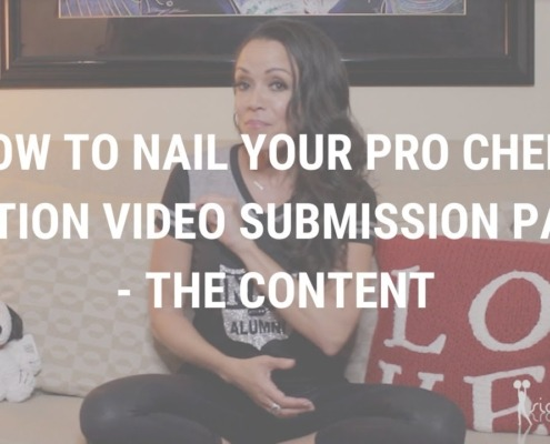 How to Nail Your Pro Cheer Audition Video Submission Part ll - The Content